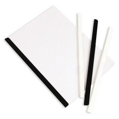 Скрепкошина для брошюровки Bantex для А4 до 50 листов белая