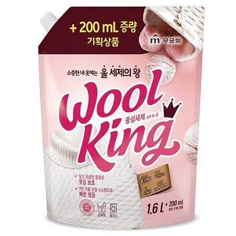 Средство для стирки Mukunghwa Wool King Neutral Detergent, 1.8L