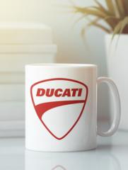 Кружка с рисунком Ducati (Дукати) белая 009