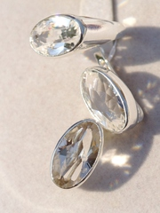 Аврора (кольцо + серьги из серебра)