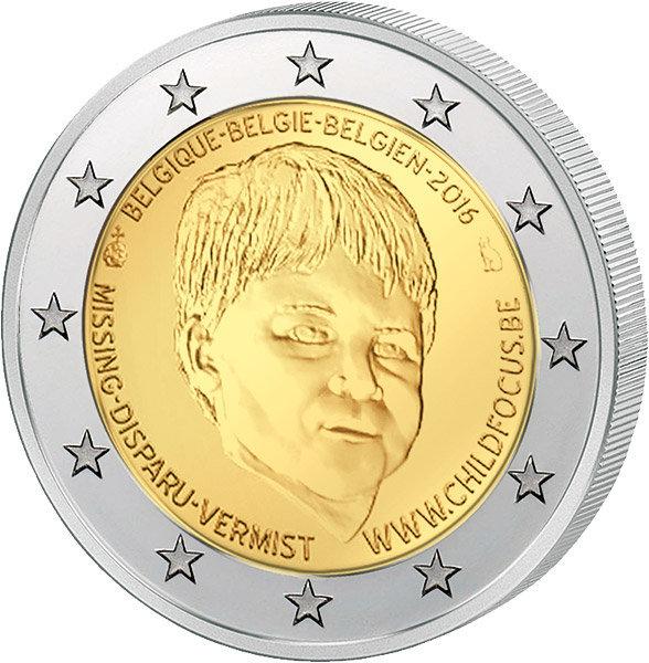 2 евро 2016 Бельгия - Дети (Европейский центр Child Focus)