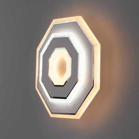 Настенный светодиодный светильник 90184/1 белый/хром