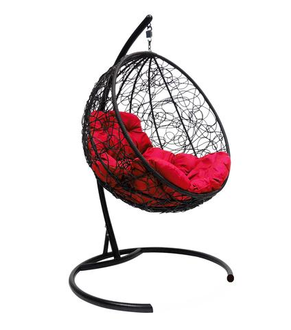 Кресло подвесное Milagro black/crimson