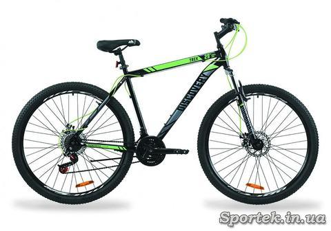 Горный универсальный велосипед Discovery Trek AM DD 2020 - черно-зеленый с серым