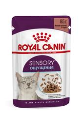 Консервированный полнорационный корм для взрослых кошек, Royal Canin Sensory feel, (в соусе)