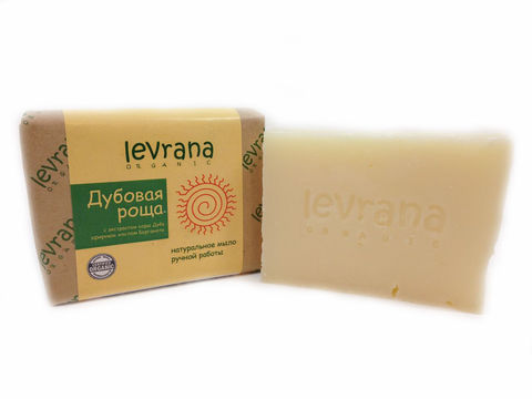 Levrana, Натуральное мыло ручной работы Дубовая роща,100гр