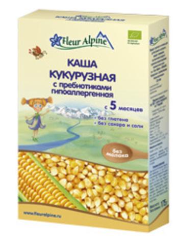 Каша Fleur Alpine Organic кукурузная гипоаллергенная безмолочная с пребиотиками