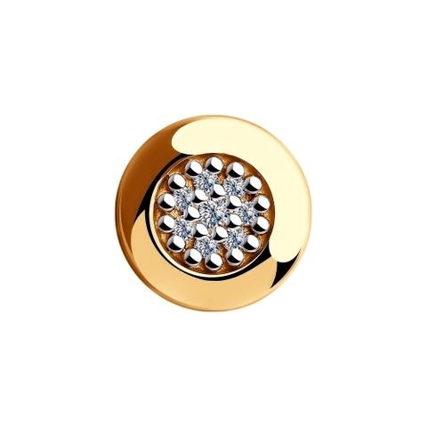 035827 - Подвеска из золота с фианитами
