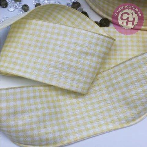 Лента хлопковая Шотландка, качество Premium, 4 см, 1 м.