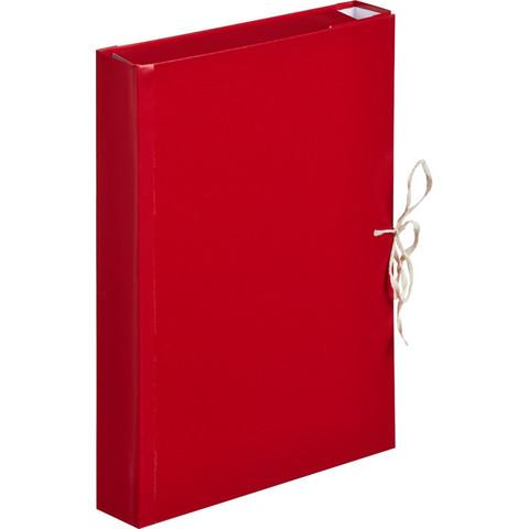 Папка архивная Attache А4 из бумвинила красная 50 мм (складная, 4 х/б завязки, до 350 листов)