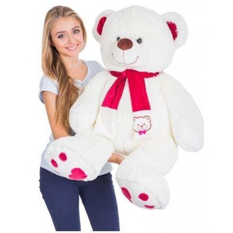 Игрушка Плюшевый медведь Кельвин (150 см). Молочный