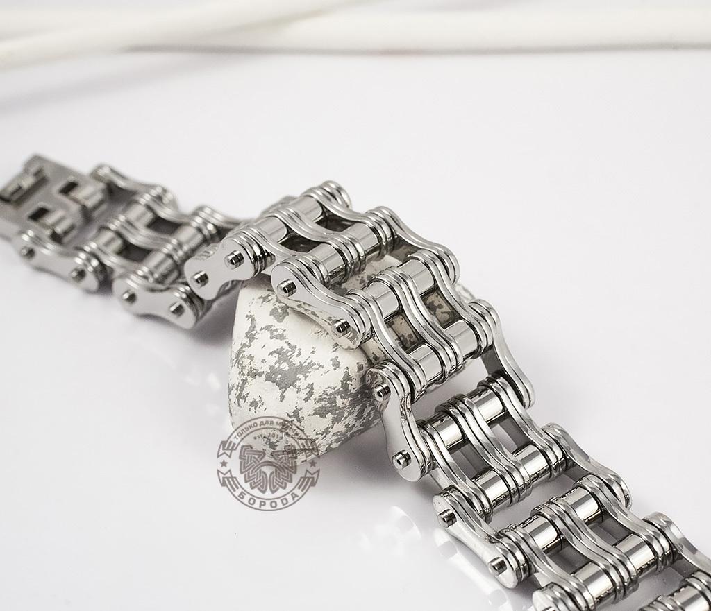 BM307 Широкий мужской браслет цепь из стали (22,5 см)
