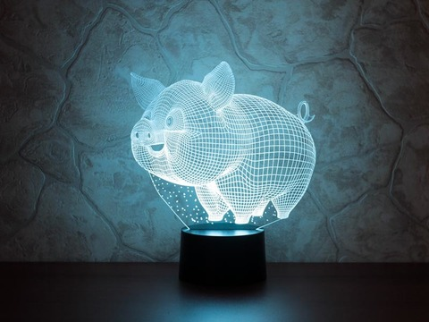 Art-lamps Весёлый поросенок