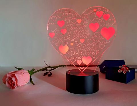 Ночник Сердце I Love You