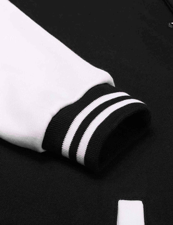 Бомбер черный с белым рукав фото