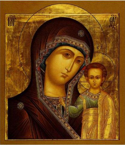 Икона Богородицы Казанская на дереве на левкасе мастерская Иконный Дом