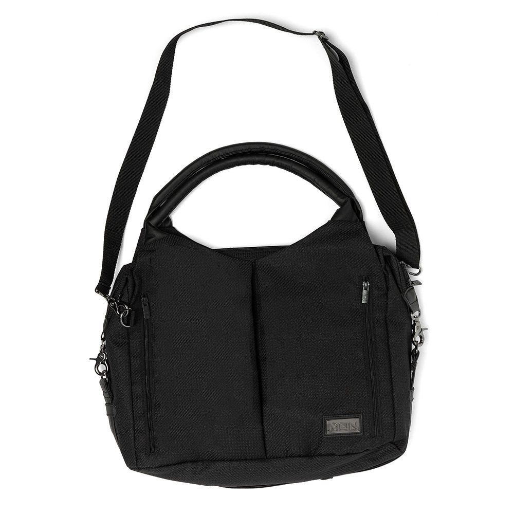 Сумки для коляски Moon Сумка Moon Messenger Bag Black (201) 2020 68010042-201-WICKELTASCHE-TREND-BLACK-FRONT.jpg
