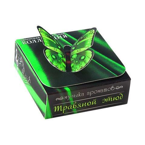 Духи твердые натуральные «Травяной этюд» с ароматом шалфея мускатного и лимонника