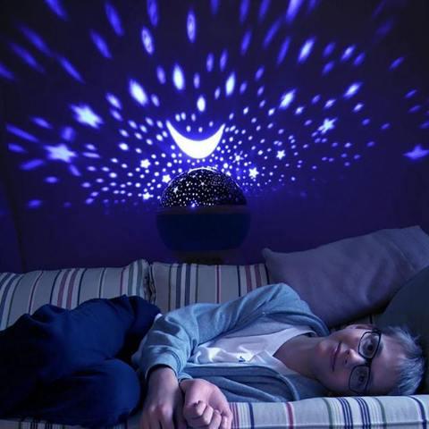 Ночник-проектор вращающийся Звездное небо Star Master (фиолетовый)