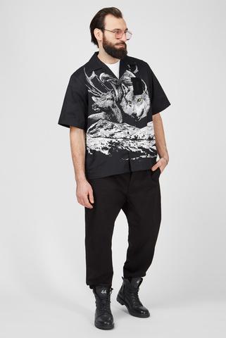 Мужская черная рубашка S-WOLF Diesel