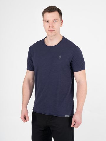 Мужская футболка «Великоросс» цвета неви круглый ворот