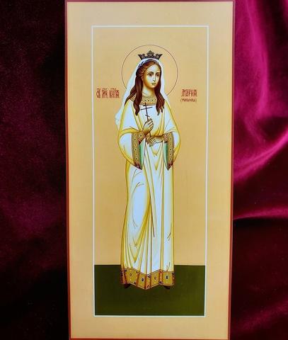 Икона святая Мария Романова на дереве на левкасе мастерская Иконный Дом