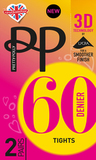 Колготки Pretty Polly 60 den ETG5 (2 пары, 3D плетение)