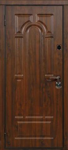 Дверь входная Стальная линия Новосел 9 стальная, темный дуб, 2 замка