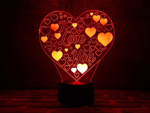 Светильник Сердце I Love You