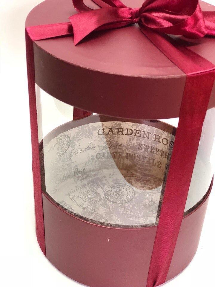 Коробка аквариум 16 см Цвет :Бордо . Розница 350 рублей .