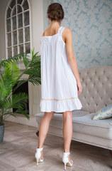 Хлопковая сорочка женская белая 16194 Миа-Миа