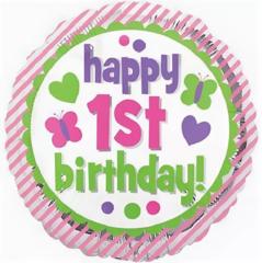 """Круг """"Happy 1st Birthday Girl"""""""