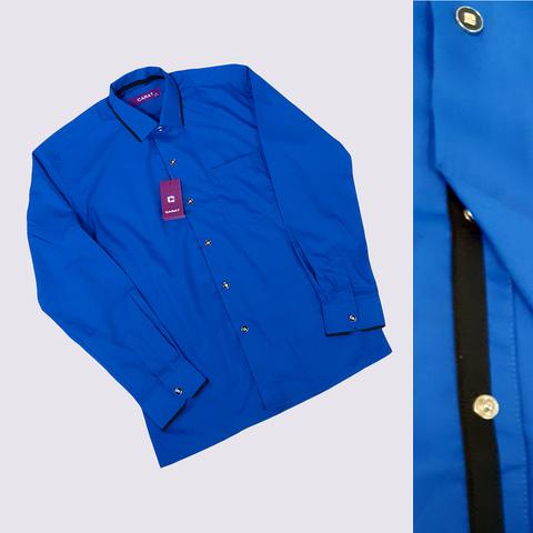 Рубашка на кнопках мальчику (6-7) 201223-Ш3259
