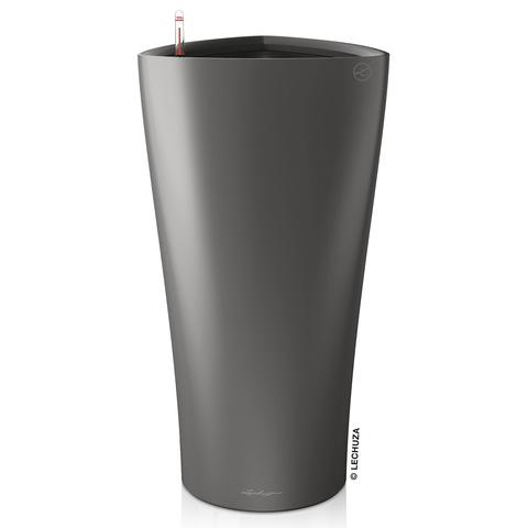 15503 Кашпо LECHUZA Дельта 30 Антрацит с системой полива