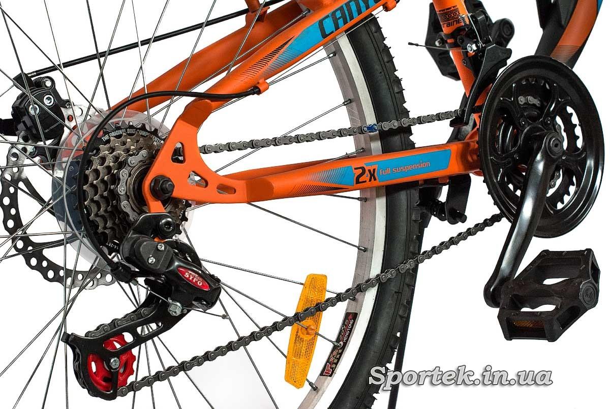 Трансмісія гірського чоловічого велосипеда Discovery Canyon DD 2016 (Діскавері Каньйон)