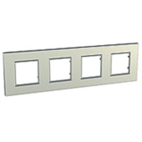 Рамка на 4 поста. Цвет Титан. Schneider Electric Unica Quadro. MGU6.708.57