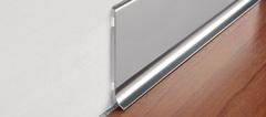 Стальной плинтус Progress Profiles BTAC 80*2000 мм полированная нержавеющая сталь
