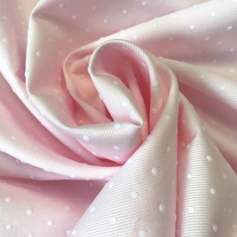 Мерный лоскут 1,0 м хлопок розовый в горошек 2093