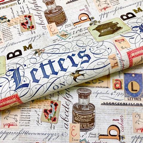 Бумага декоративная подарочная Прописи