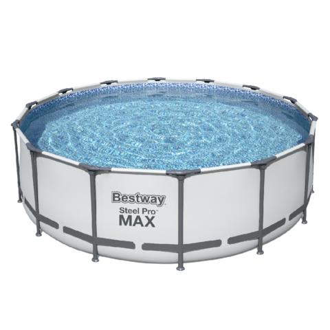 Каркасный бассейн Bestway 5612X (427х122 см) с картриджным фильтром, тентом и лестницей / 25302