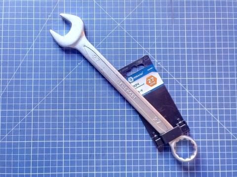 Ключ комбинированный КОБАЛЬТ 27 мм Cr-V (1 шт.) подвес