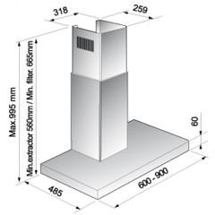 Вытяжка Korting KHC 9957 X схема