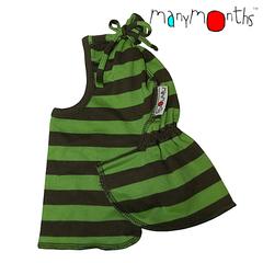 Шлемик ManyMonths ECO. Зелёные полосы (110-122/128 см)