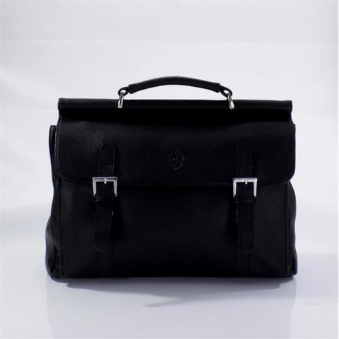 Кожаный портфель черный Fidelio Largo 138-1 black FL