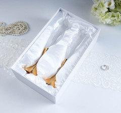 Набор свадебных бокалов с кристаллами сваровски, золото, 27,4 см, фото 3