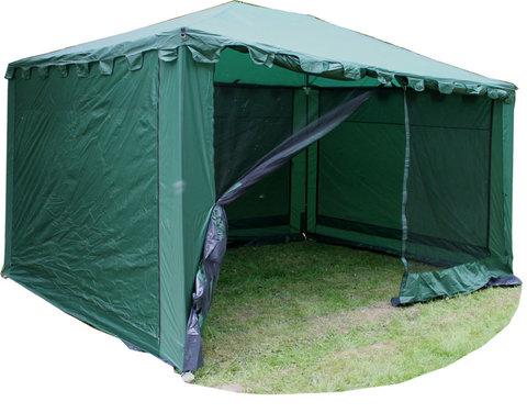 Туристический тент-шатер Campack Tent G-3401W (со стенками) (зеленый)