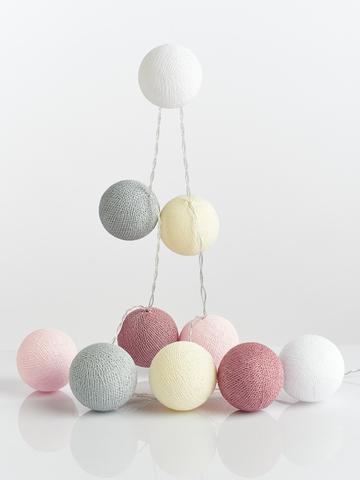 Гирлянда из хлопковых шариков Феи