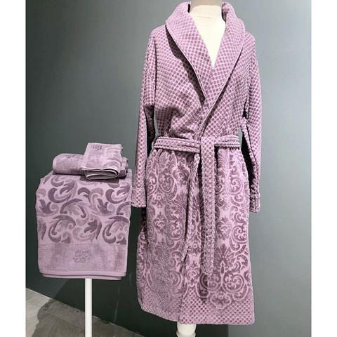 Lisa фиолетовый махровый женский халат  Tivolyo Home (Турция)