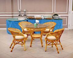 Комплект обеденный JAVA-2 (стол + 4 кресла)