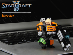 Minifigures Model Star Craft Terran Orange